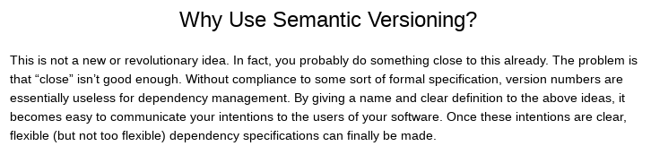 Why Use Semantic Versioning?