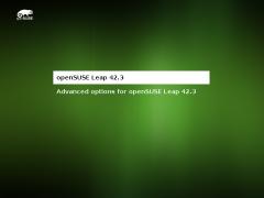 openSUSEの起動画面